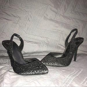 Black sparkly pumps